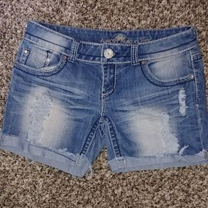 Almost Famous distressed jean shorts